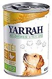 Yarrah Bio Hundefutter Pate Huhn, Spirulina, Seetang 400 g, 12er Pack...