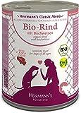 Herrmanns Bio Hundefutter Rind Menu 1 mit Buchweizen, Apfel, Birne 800...
