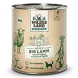 Wildes Land   Nassfutter für Hunde   Bio Lamm   6 x 800 g  ...
