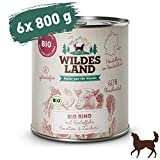 Wildes Land   Nassfutter für Hunde   Bio Rind   6 x 800 g  ...