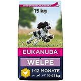 Eukanuba Welpenfutter mit frischem Huhn für mittelgroße Rassen -...
