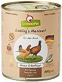 GranataPet Liebling's Mahlzeit Fasan & Geflügel, Nassfutter für...