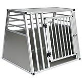 EUGAD Hundetransportbox Alu Hundebox Reisebox Autobox für große...