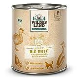 Wildes Land - Nassfutter für Hunde - Bio Ente - 6 x 800 g -...
