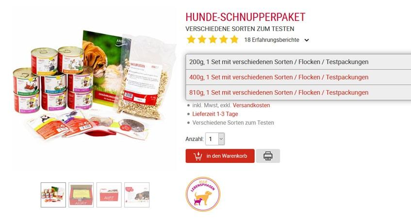 ANIfit Hunde-Schnupperpaket