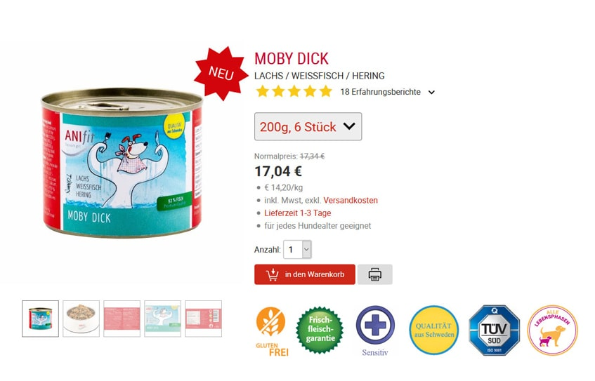 ANIfit Hundefutter Moby Dick